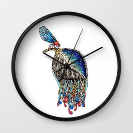 We Eat Beauty to Become Beauty Wall Clock