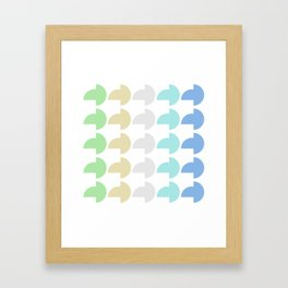 "Pattern: Half-Moon Cubic ""Fresh Water Beach"" Framed Art Print"