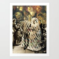 wedding Art Prints featuring wedding by Karen Constance Collage and Paintings