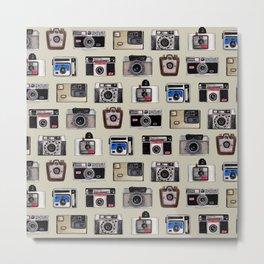 Vintage Cameras - Photography Pattern Metal Print