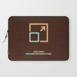 Lab No. 4 -Great Things Never Came From Comfort Zones Corporate Start-Up Quotes Poster Laptop Sleeve