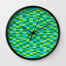 """""""Lime Lite"""" Op Art Wall Clock"""