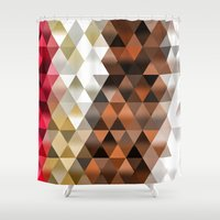 triangle Shower Curtains featuring Triangle by Susann Mielke