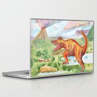 t rex Laptop & iPad Skins featuring T-Rex by Catherine Holcombe
