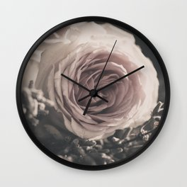 Roses and lavender Wall Clock