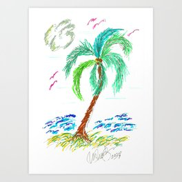 """Beach Afternoon"" Art Print"