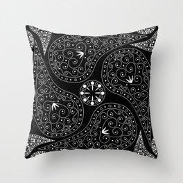 White & Black Coordination Throw Pillow