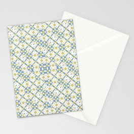 Colorful Check Geometric Pattern Stationery Cards