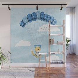 Cutie Parachuting Dog Wall Mural