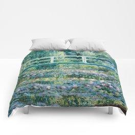 1899-Claude Monet-Water Lilies and Japanese Bridge Comforters