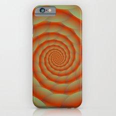 Orange Snake Skin Spiral iPhone 6s Slim Case