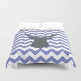 Purple chevron deer Duvet Cover