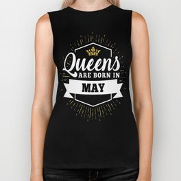 Queens-are-born-in-May-1 Biker Tank