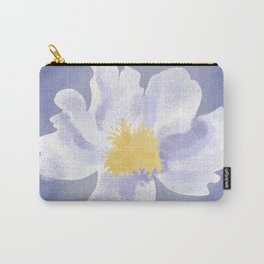 Peony on Blue Carry-All Pouch