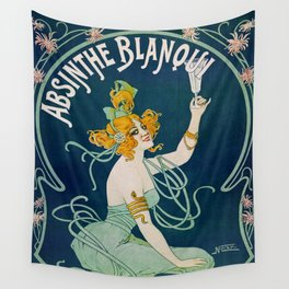 Vintage Absinthe Blanqui Ad Wall Tapestry