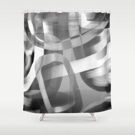 Jujube Stew -- grayscale Shower Curtain