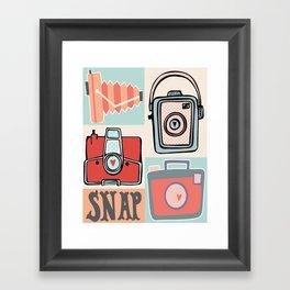 Snap Vintage Retro Camera Framed Art Print