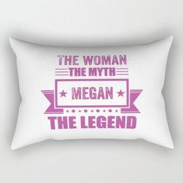 The woman the myth Megan the legend name gift Rectangular Pillow