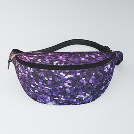 Purple Ombre Glitter Fanny Pack