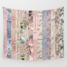 Vintage Shabby Florals Wall Tapestry