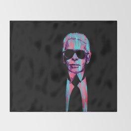 Karl Lagerfeld Portrait Pop Throw Blanket