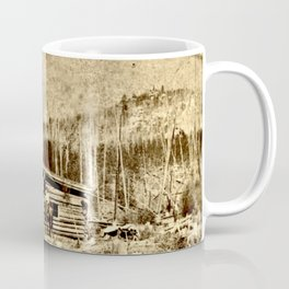 Seven Lakes Cabin Hotel and Pikes Peak Coffee Mug
