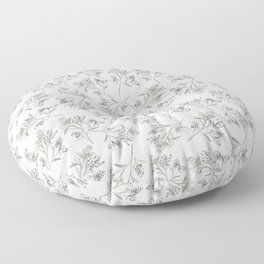 'tossed greens' - botanical pattern Floor Pillow