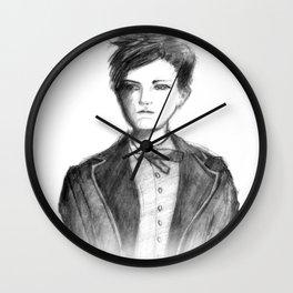 Pencil sketch of young Arthur Rimbaud Wall Clock