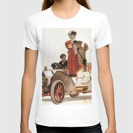 12,000pixel-500dpi - Joseph Christian Leyendecker - Lady And Car - Digital Remastered Edition T-shirt