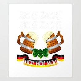 Zicke Zacke Hoi Hoi Hoi Oktoberfest 2019 Munich Beer Fest  T-Shirt Art Print