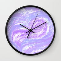psych Wall Clocks featuring Psych Tentacle by Vee D Alexx