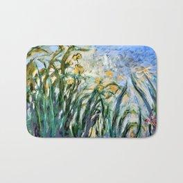 """Claude Monet """"Yellow Irises and Malva"""", 1914 - 1917 Bath Mat"""