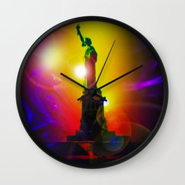 New York NYC - Statue of Liberty 10 Wall Clock