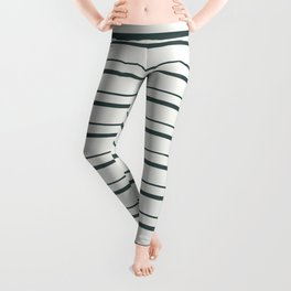 Night Watch PPG1145-7 Horizontal Stripes Pattern 3 Delicate White PPG1001-1 Leggings