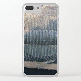 Trilobite black fossil Clear iPhone Case