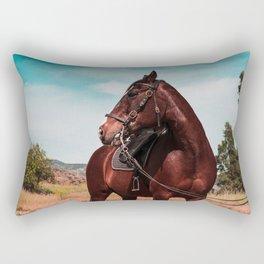 Blaze the horse color Rectangular Pillow
