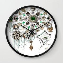 Mandala Headdress Wall Clock