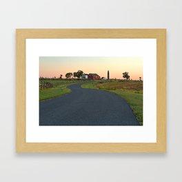 Winding Gettysburg Dawn Road Framed Art Print