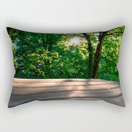 Sunset behind the trees Rectangular Pillow