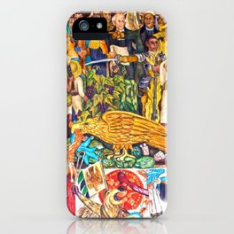 History of Mexico by Diego Rivera iPhone Case