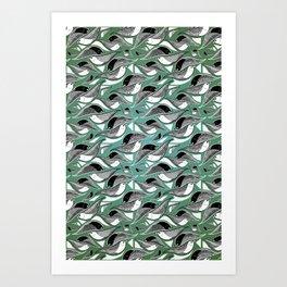 Bird Mosaic Art Print