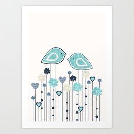 I heart birdies Art Print