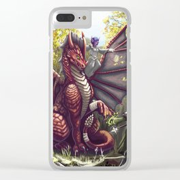 Mending the Dragon Clear iPhone Case