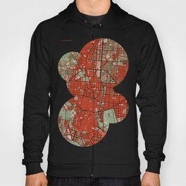 Madrid city map classic Hoody