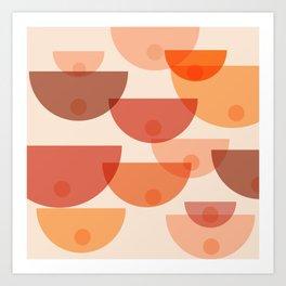 Mid Century Boobs Abstract Art Print