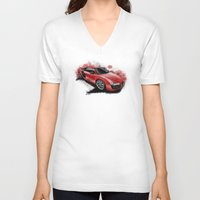 audi V-neck T-shirts featuring R8 V10 by an.artwrok