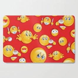 Emoji Pattern 4 Cutting Board
