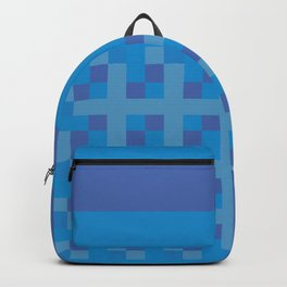 Blue and Purple Boxes Backpack