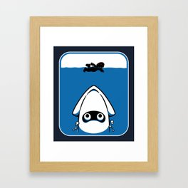 The Great White Blooper Framed Art Print