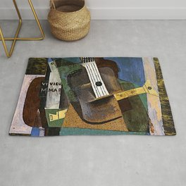 Pablo Picassso Guitar, Clarinet and Bottle Rug